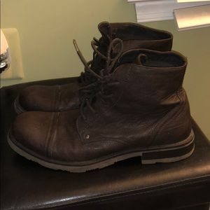 df16fc43a5f Men's American Eagle Brown Leather Boots- size 11
